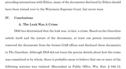 Leak was a crime