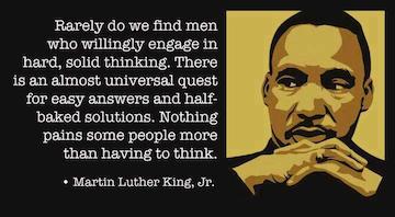 ML King thinking