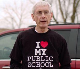Tony Evers loves his schools