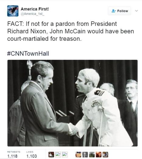 Nixon Pardons McCain