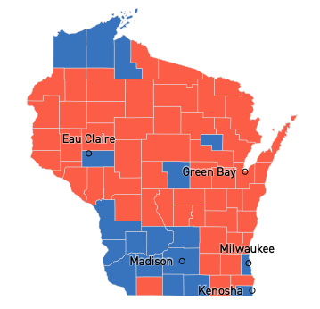WI governor map