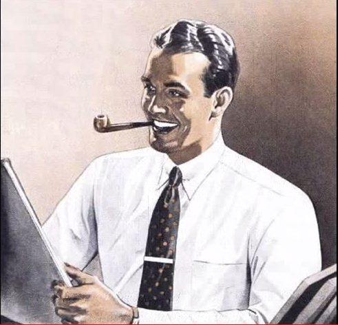 Happy white Newspaper reader *