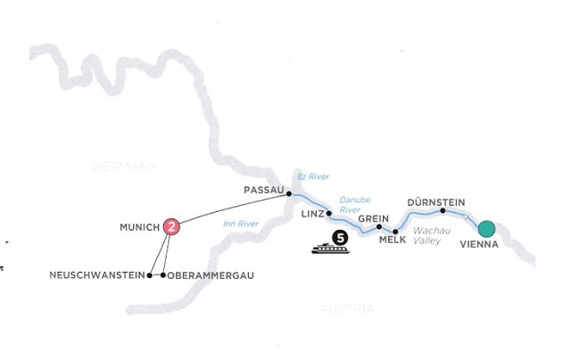 Danube River itinerary