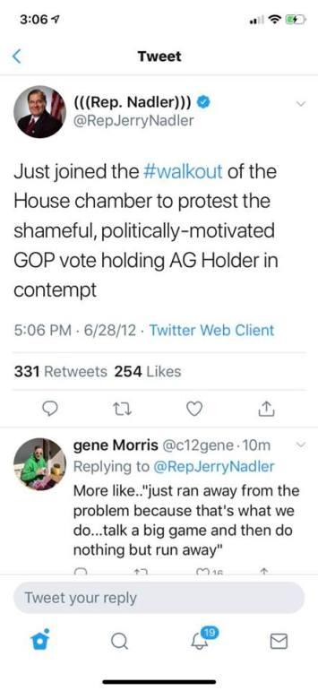 Nadler hypocrite