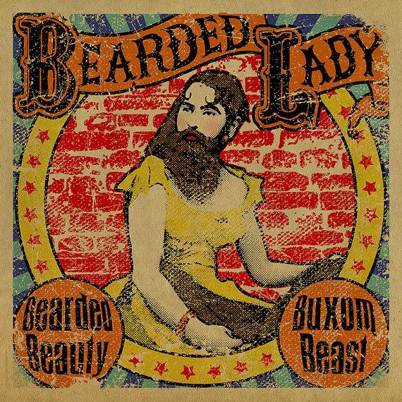 Circus bearded lady