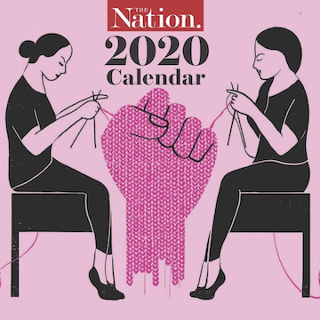 The Nation knitting