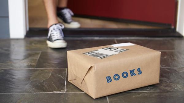 Books on stoop