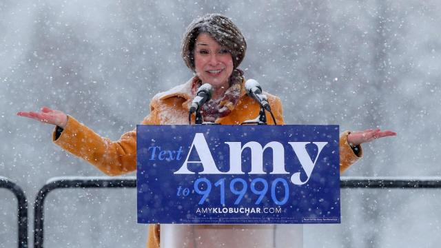 Amy-Klobuchar- of the snow