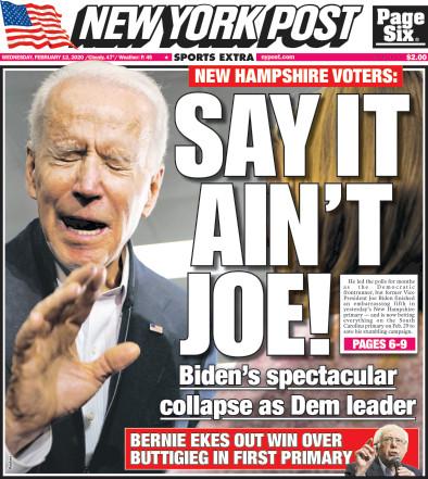 Say it ain't Joe