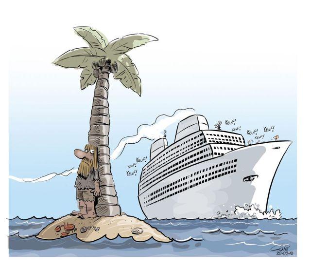 shipwrecked island