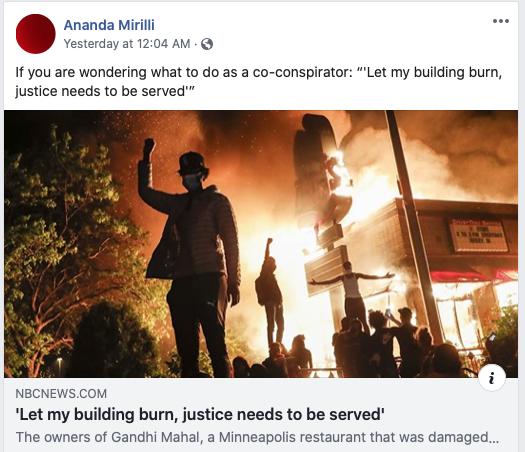 Ananda Mirilli let it burn