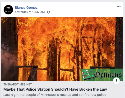 Bianca Gomez Police burn