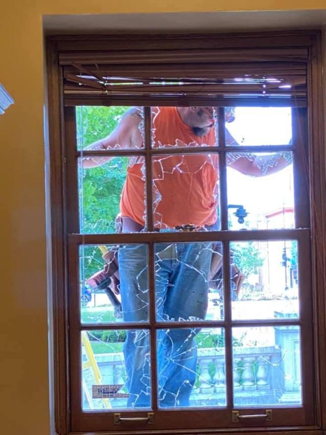 Broken Window State Capitol