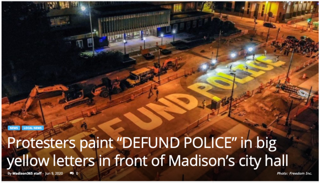 Defund police paintd