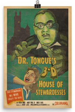 Poster of Dr. Tongue's 3-D House of Stewardesses