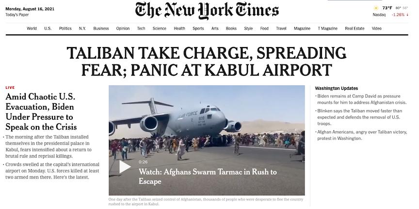 Taliban NY Times